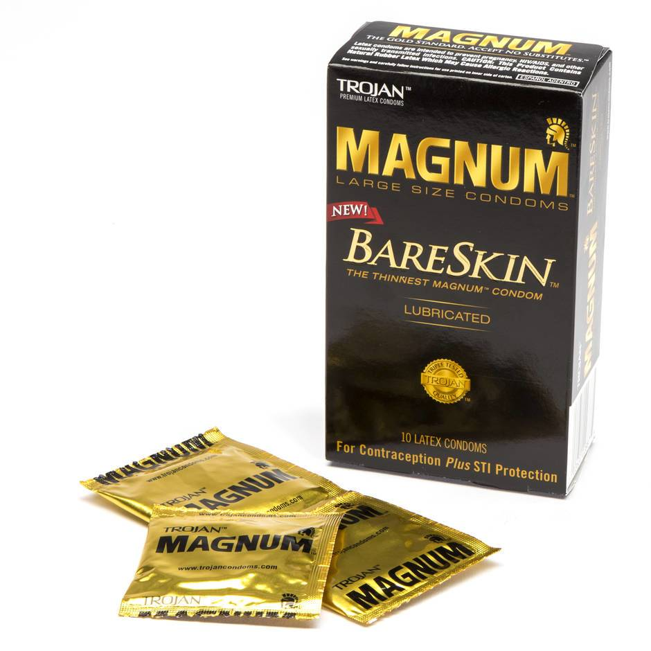 Trojan Magnum Large BareSkin Extra Thin Condoms (10 Count)