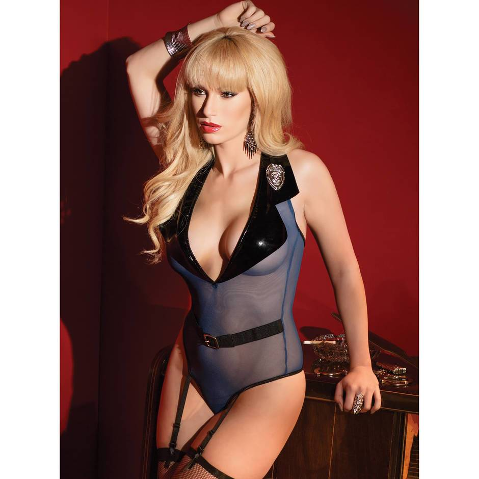 Coquette Kissable Teddy Sexy Cop Costume