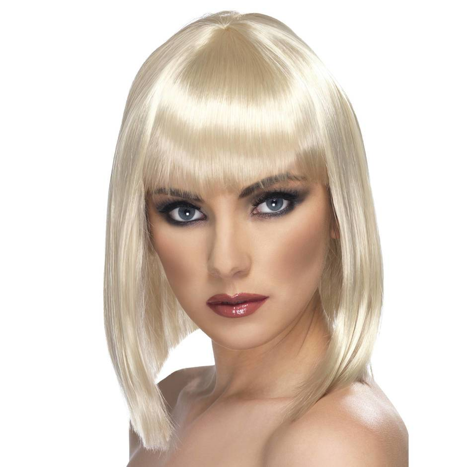 Short Blonde Wig with Fringe