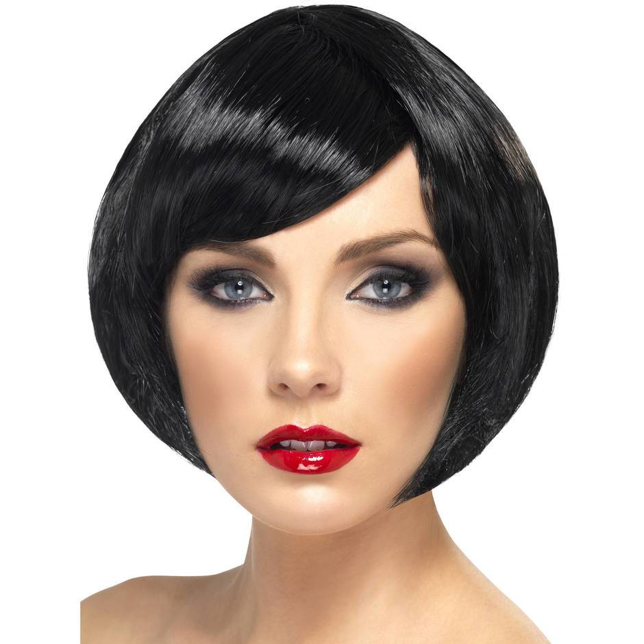 Babe Black Short Bob Wig with Fringe