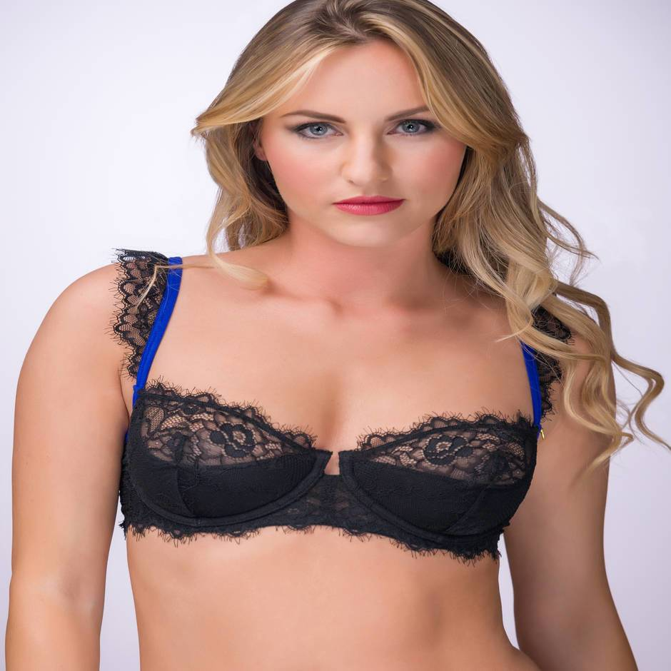 Lovehoney Enchant Me Eyelash Lace Balcony Bra