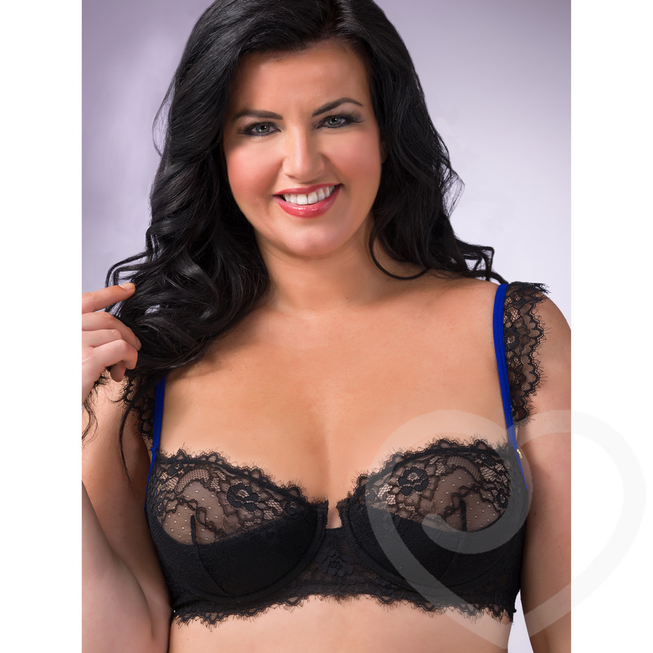 Lovehoney Plus Size Enchant Me Halbschalen-BH aus Wimpernspitze