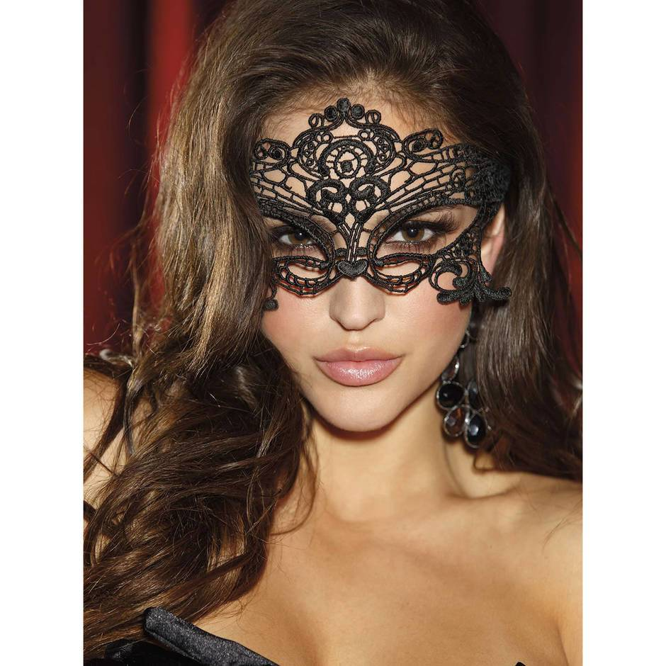 Shirley of Hollywood Embroidered Lace Venetian Mask