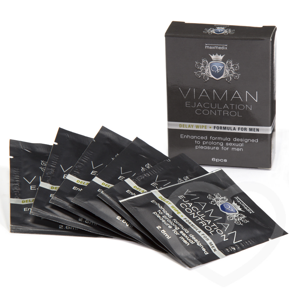 Viaman Delay Wipes for Men (6 Pack)