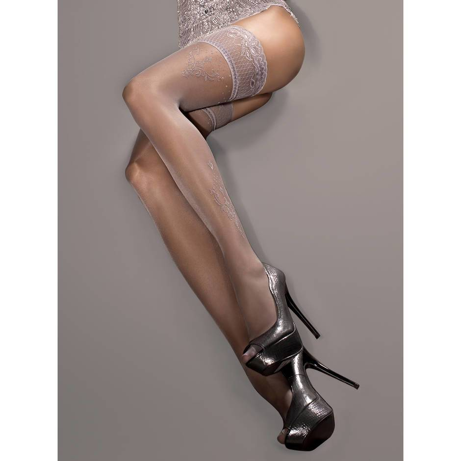 Roza Ballerina Rococo Lace Top Hold Ups