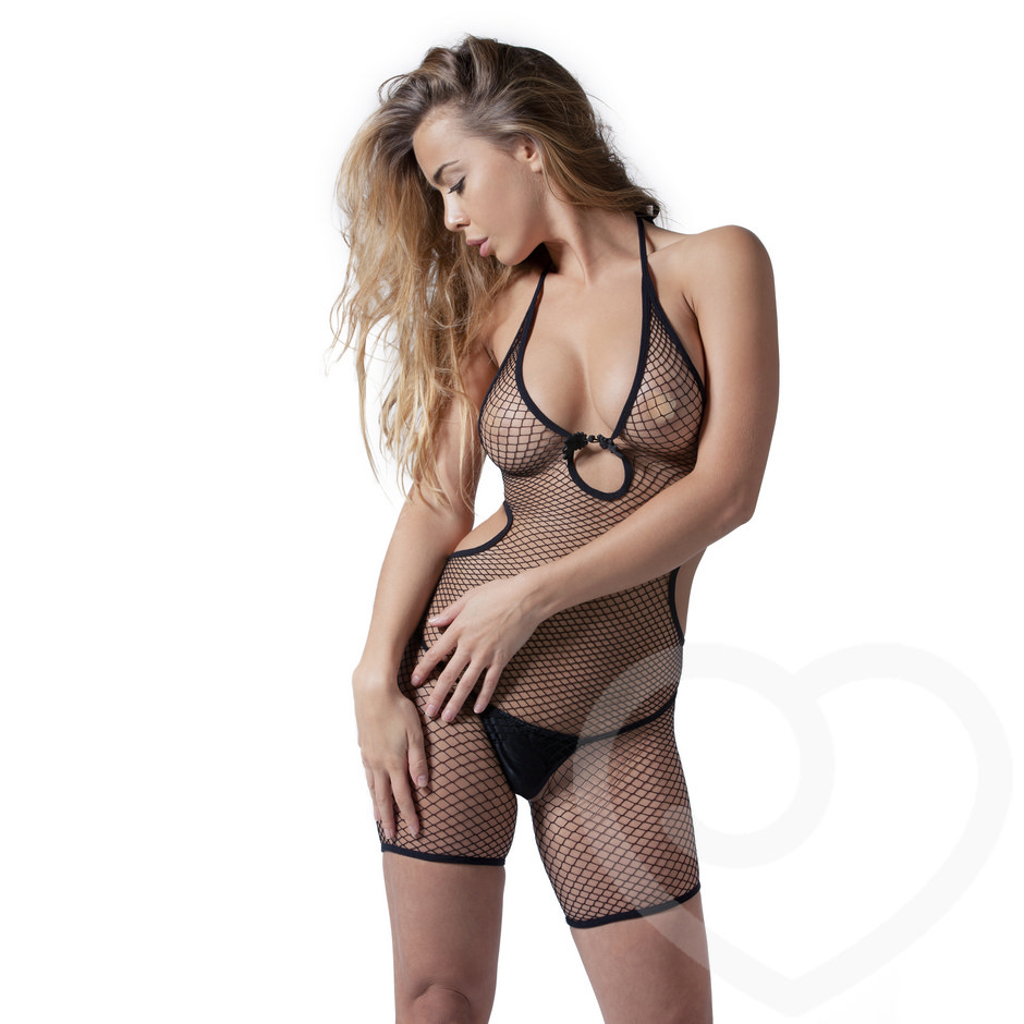 De Namour Crotchless Fishnet Playsuit