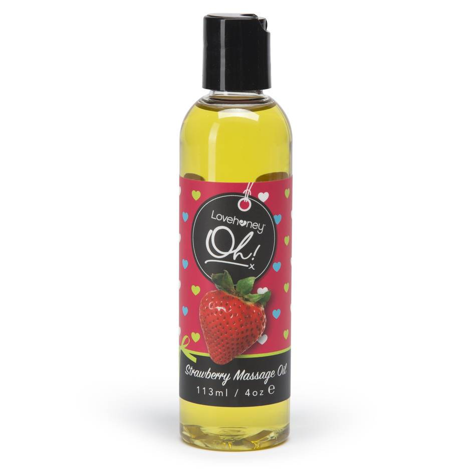 Lovehoney Oh! Strawberry Lickable Massage Oil 113ml