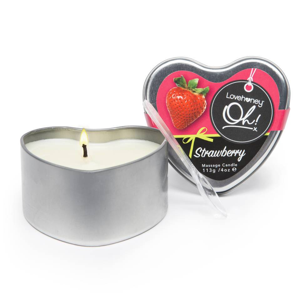 Lovehoney Oh! Strawberry Lickable Massage Candle 113g