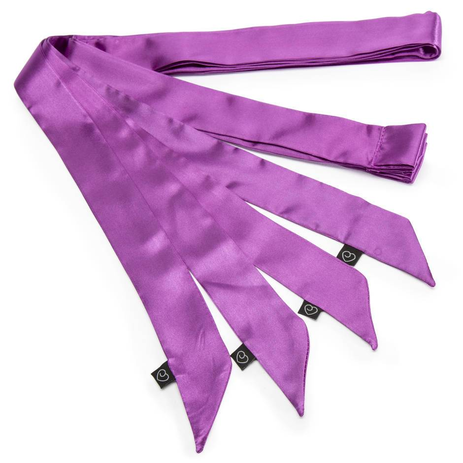 Tease by Lovehoney Purple Silky Restraints (4 Pack)