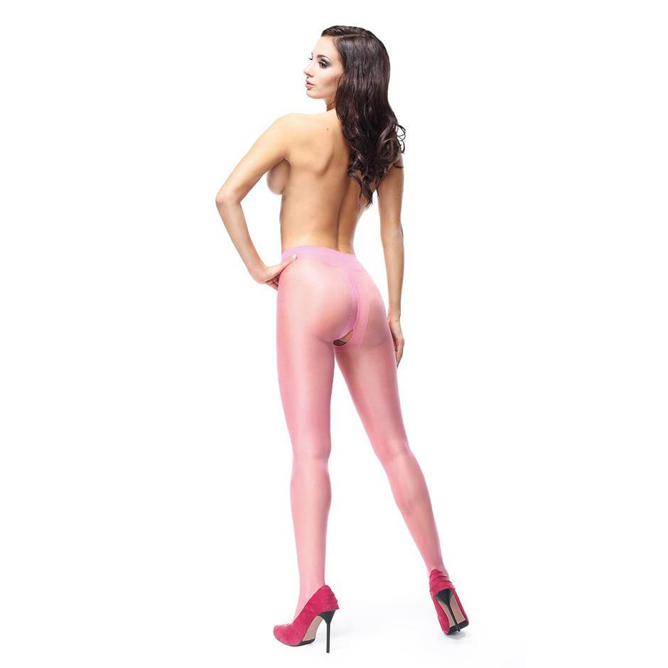 missO 20 Denier Light Pink Crotchless Tights