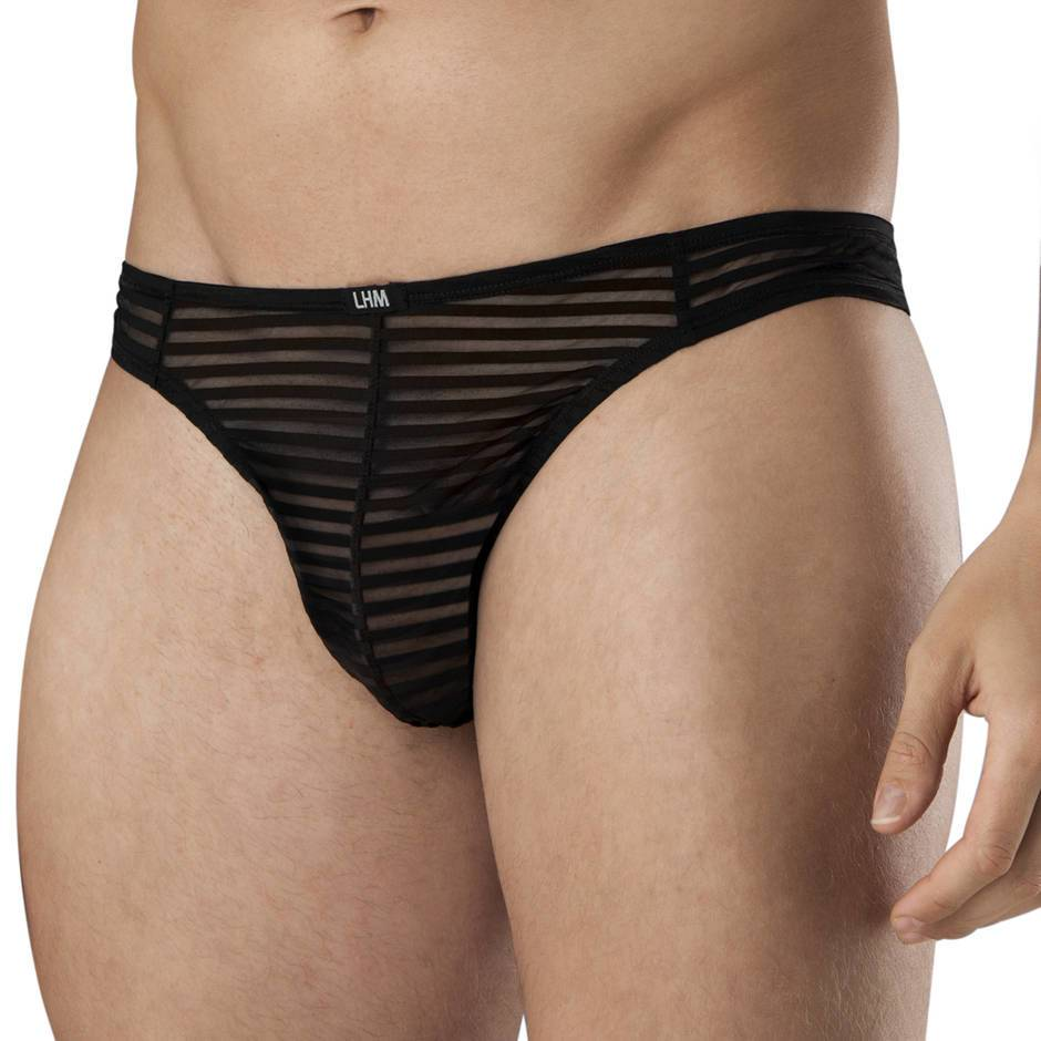 LHM Stripe Mesh Thong for Men