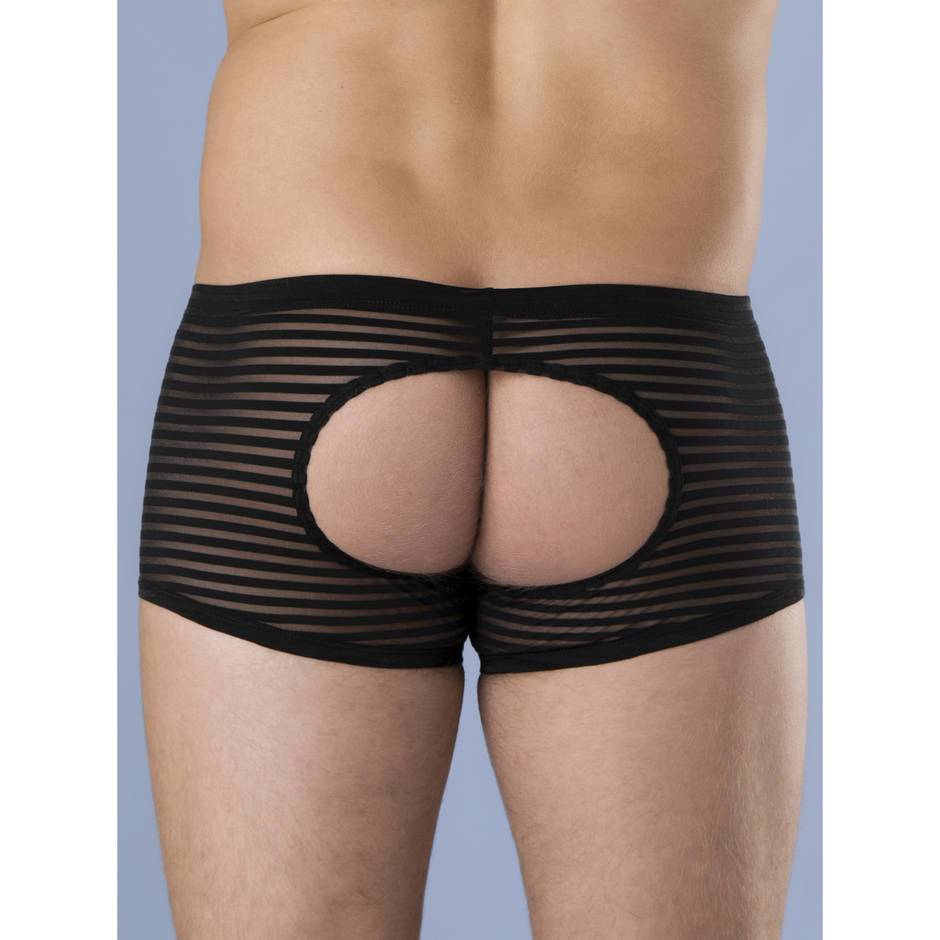 LHM Stripe Mesh Open Back Boxer Shorts
