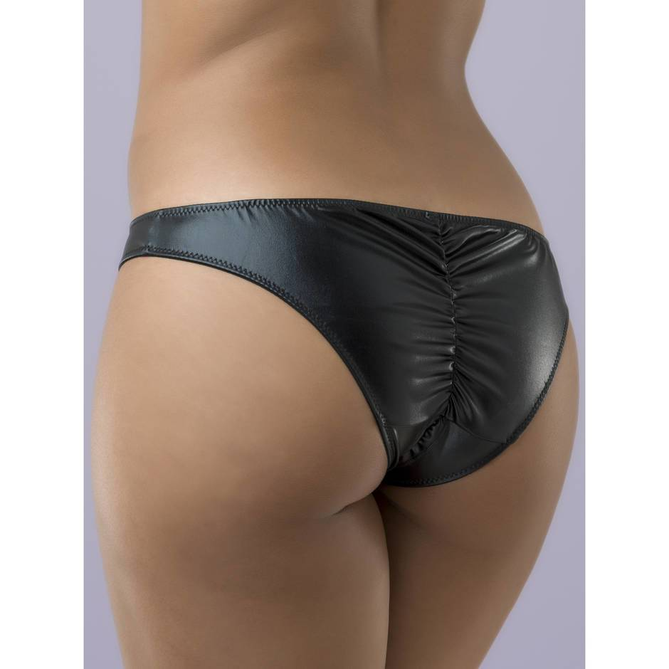 Lovehoney Plus Size Wet Look Crotchless Panties