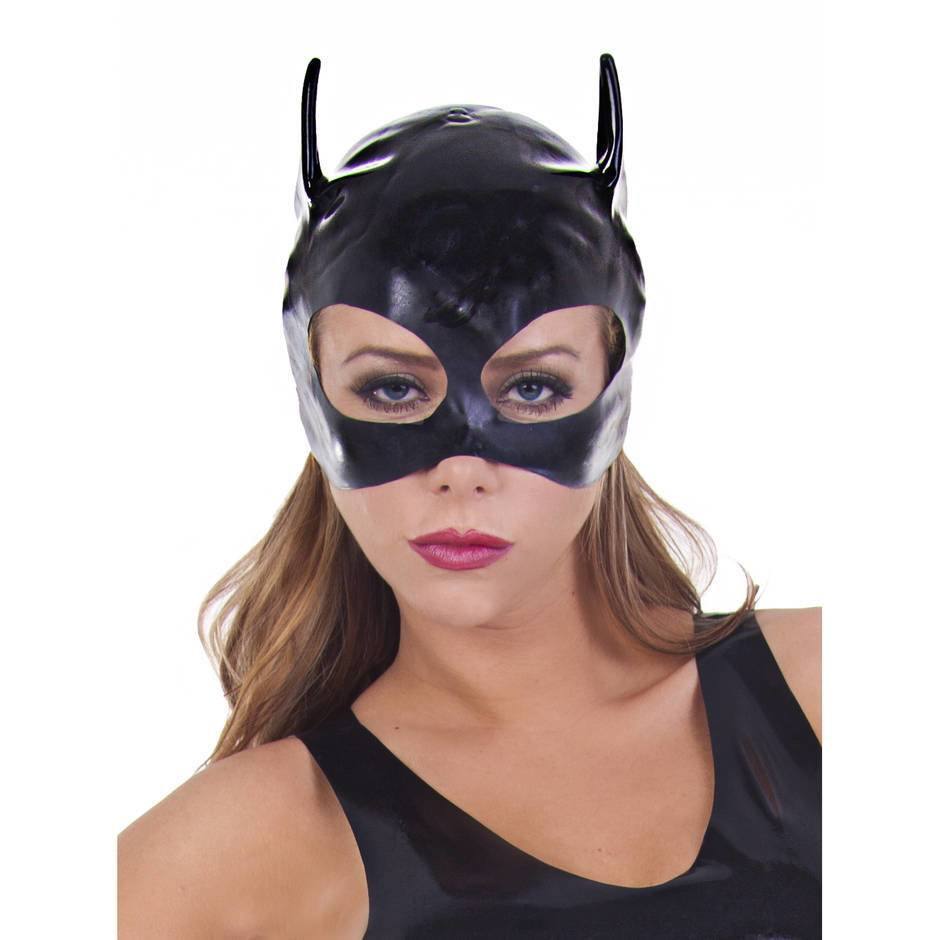Masque de chat en caoutchouc par Rubber Girl