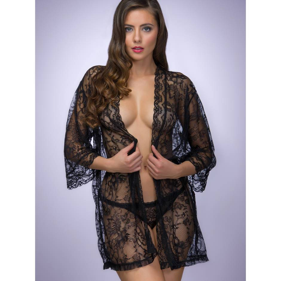 Lovehoney Flaunt Me Floral Lace Robe