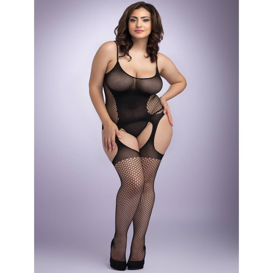 Lovehoney Plus Size Hourglass Suspender Bodystocking