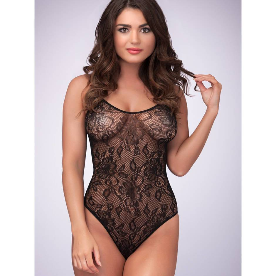 Body fendu dentelle bretelles spaghetti, Lovehoney