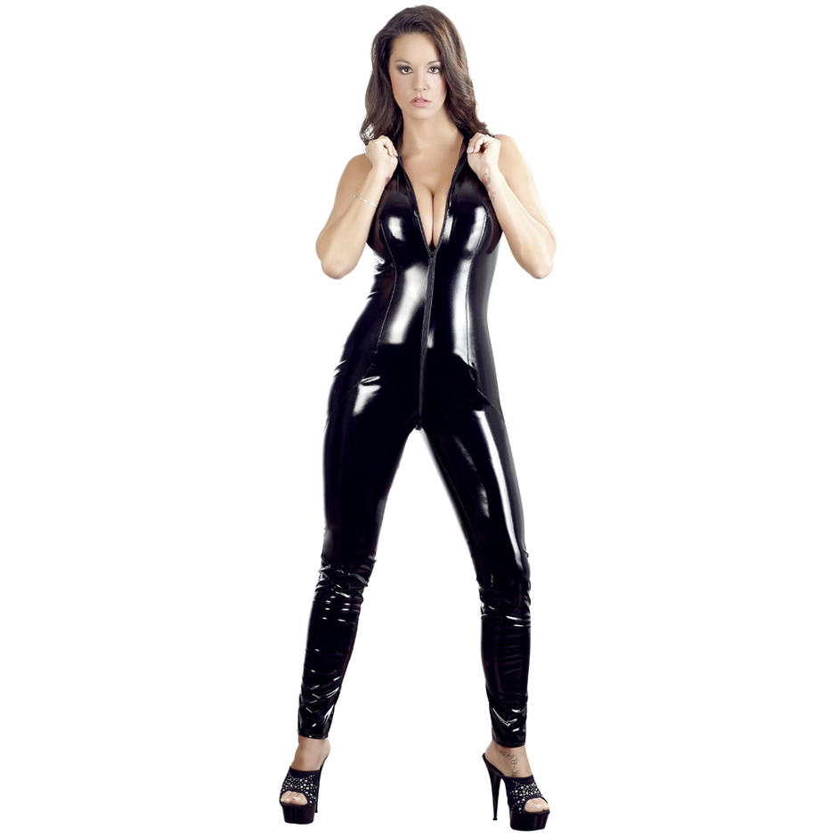 44d23d6b6fe Black Level PVC Catsuit with Full Length Zip - Lovehoney