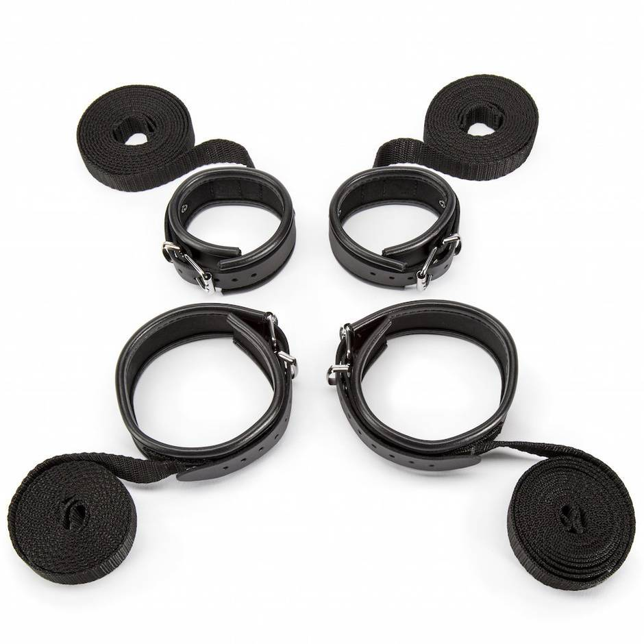 DOMINIX Deluxe Bondage Restraint Set with Leather Cuffs