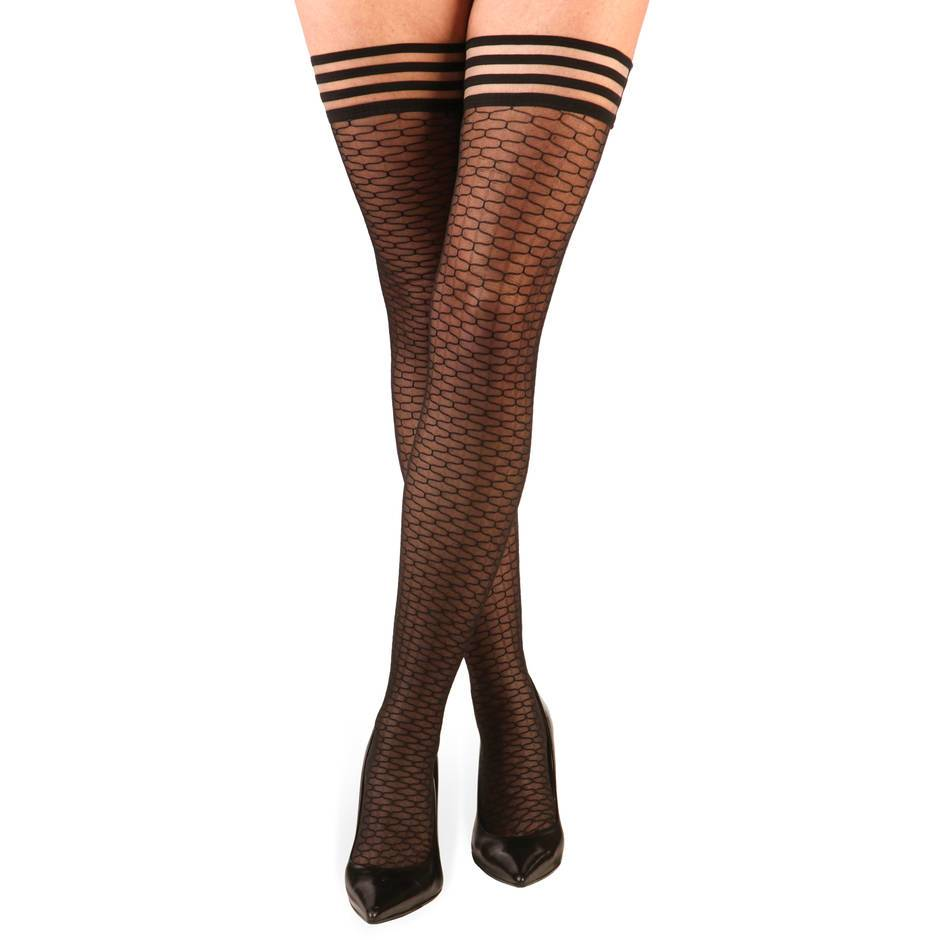 Kix'ies Thigh Highs Honeycomb Hold Ups