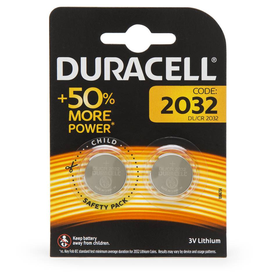 Duracell CR2032 Batteries (2 Pack)