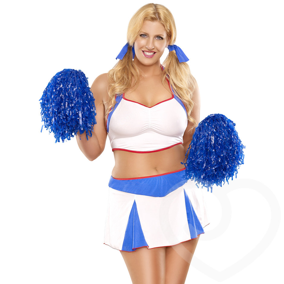 Exposed Plus Size Cheerleader Costume