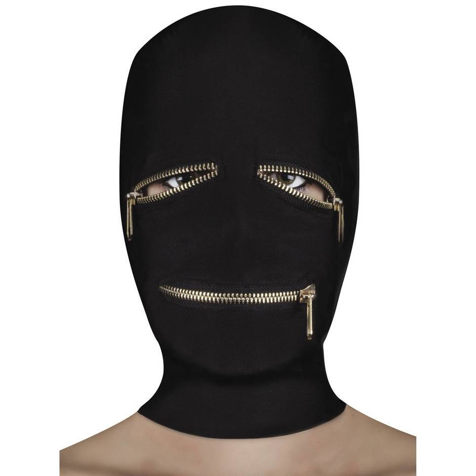 Ouch! Extreme Zipper Hood with Eye and Mouth Zippers
