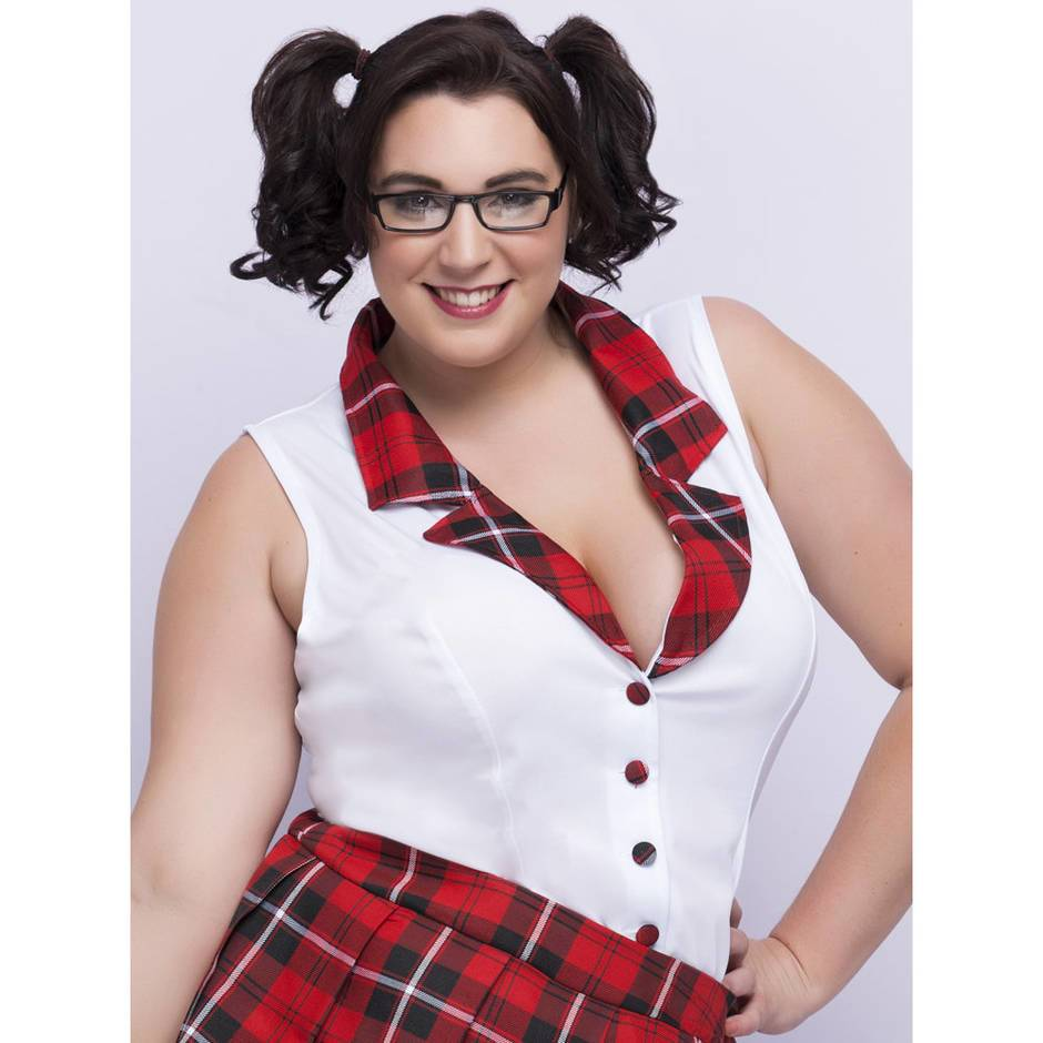Lovehoney Fantasy Plus Size Sexy Schoolgirl Costume At -3543