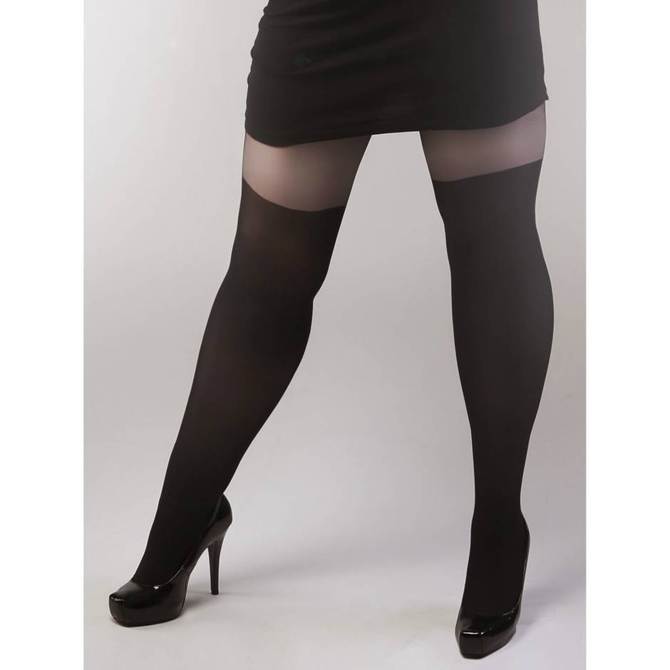 Collants grande taille effet bas, Miss Naughty