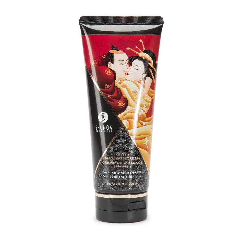 Shunga Sparkling Strawberry Kissable Massage Cream 7 fl. oz
