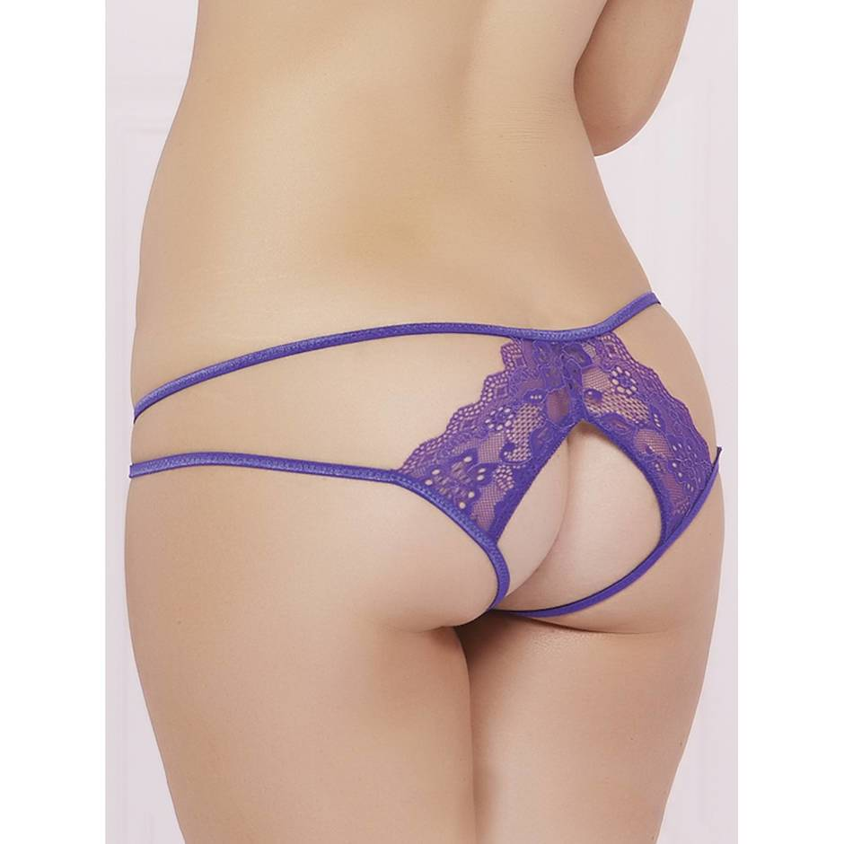 Seven 'til Midnight Lace Open Back Panty