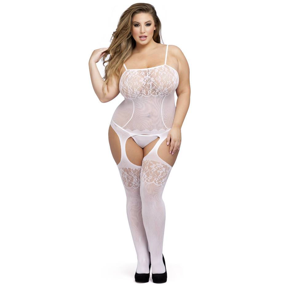 Lovehoney Plus Size weißer Bodystocking