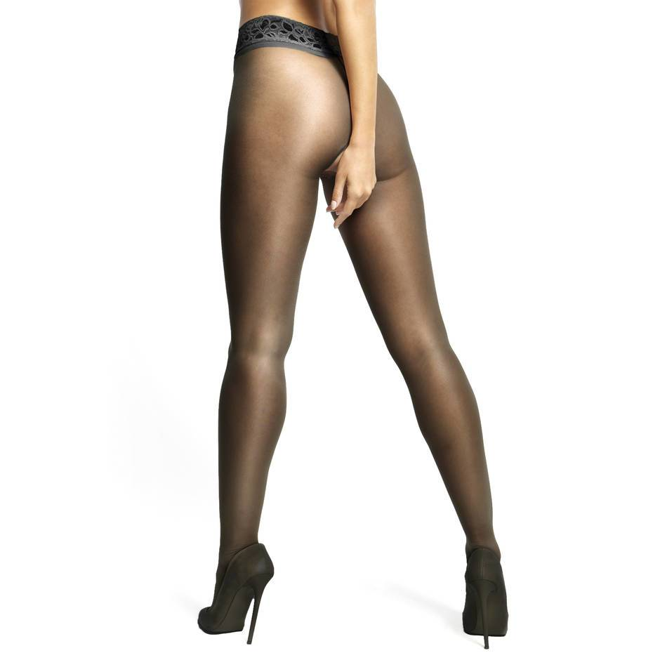 Black crotchless pantyhose