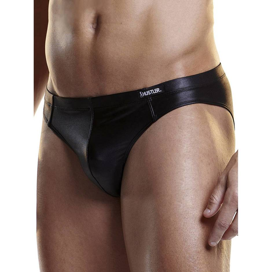Hustler Men's Wet Look Brief