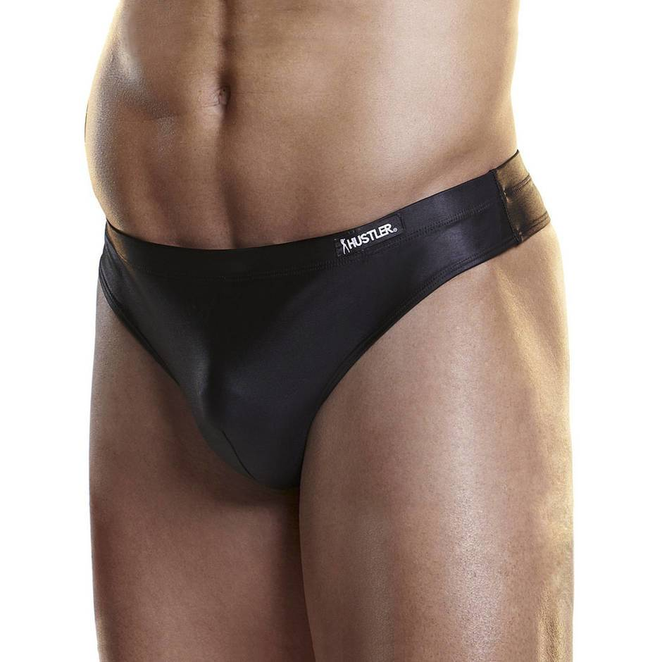 Hustler Men's Wet Look Thong