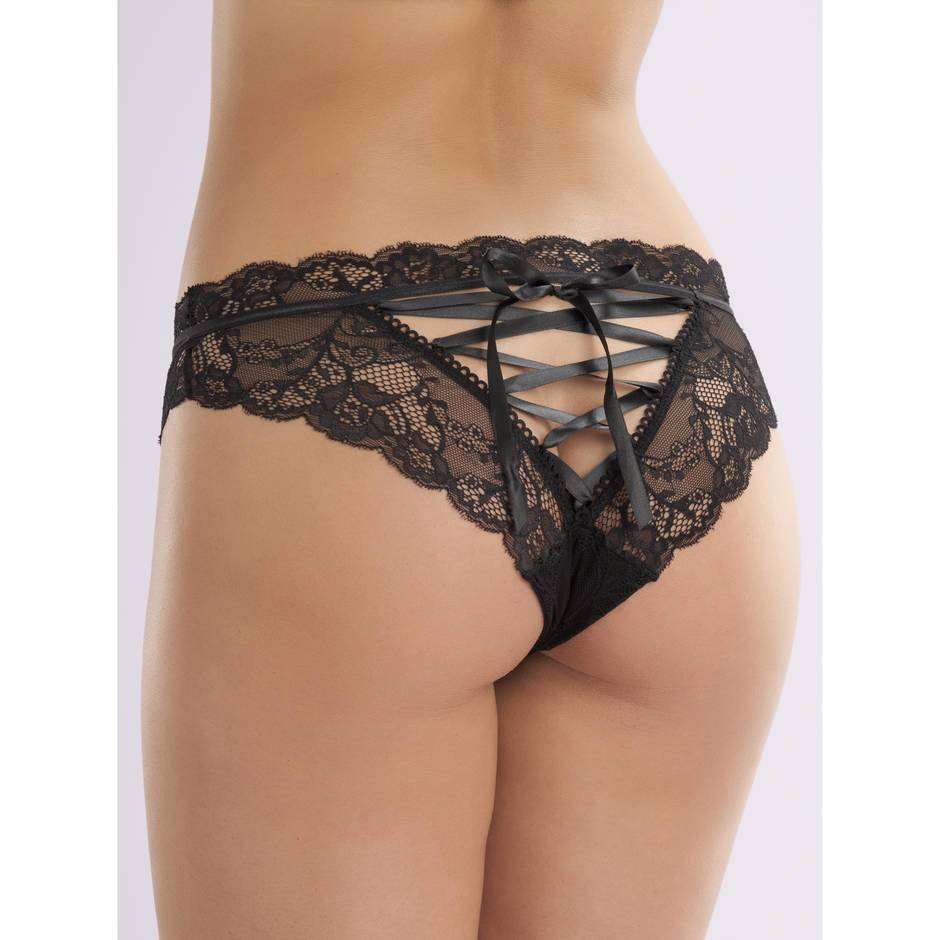 Lovehoney Lace-up Crotchless Knickers