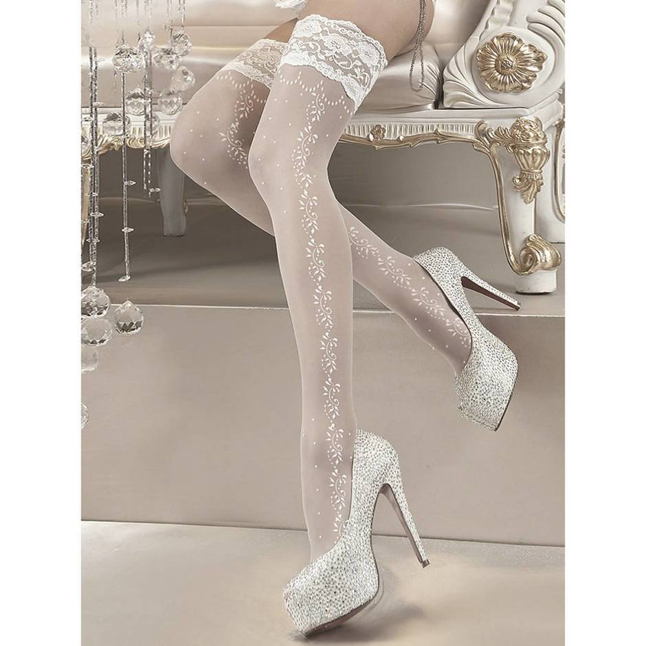 Ballerina Hush Hush Patterned Hold-Ups