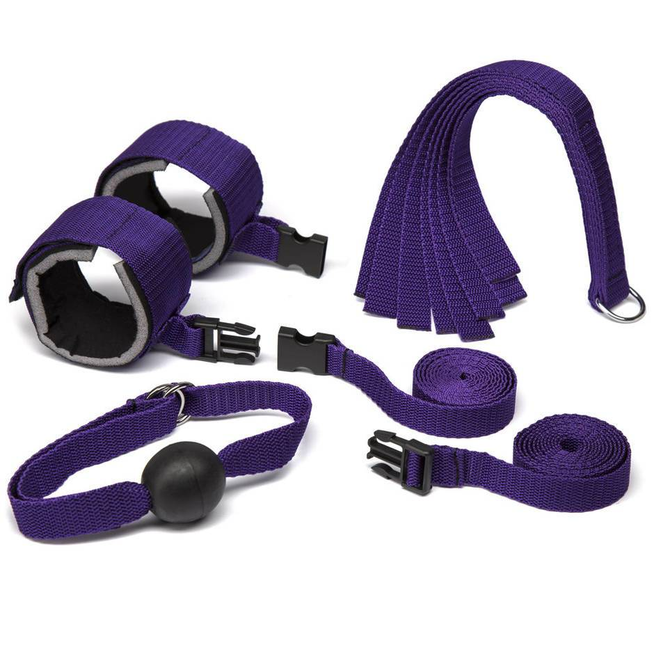 Purple Reins Bondage-Set (4-teilig)