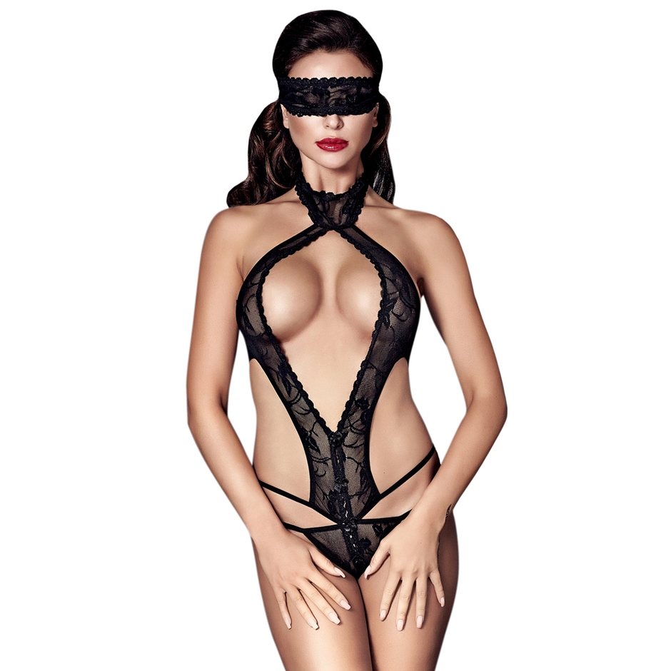 Anais Alexandra anais alexandra lace g-string body with blindfold