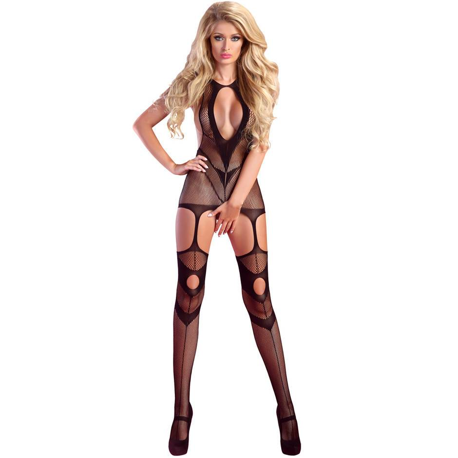 Livia Corsetti Obsession Fishnet Crotchless Suspender Dress