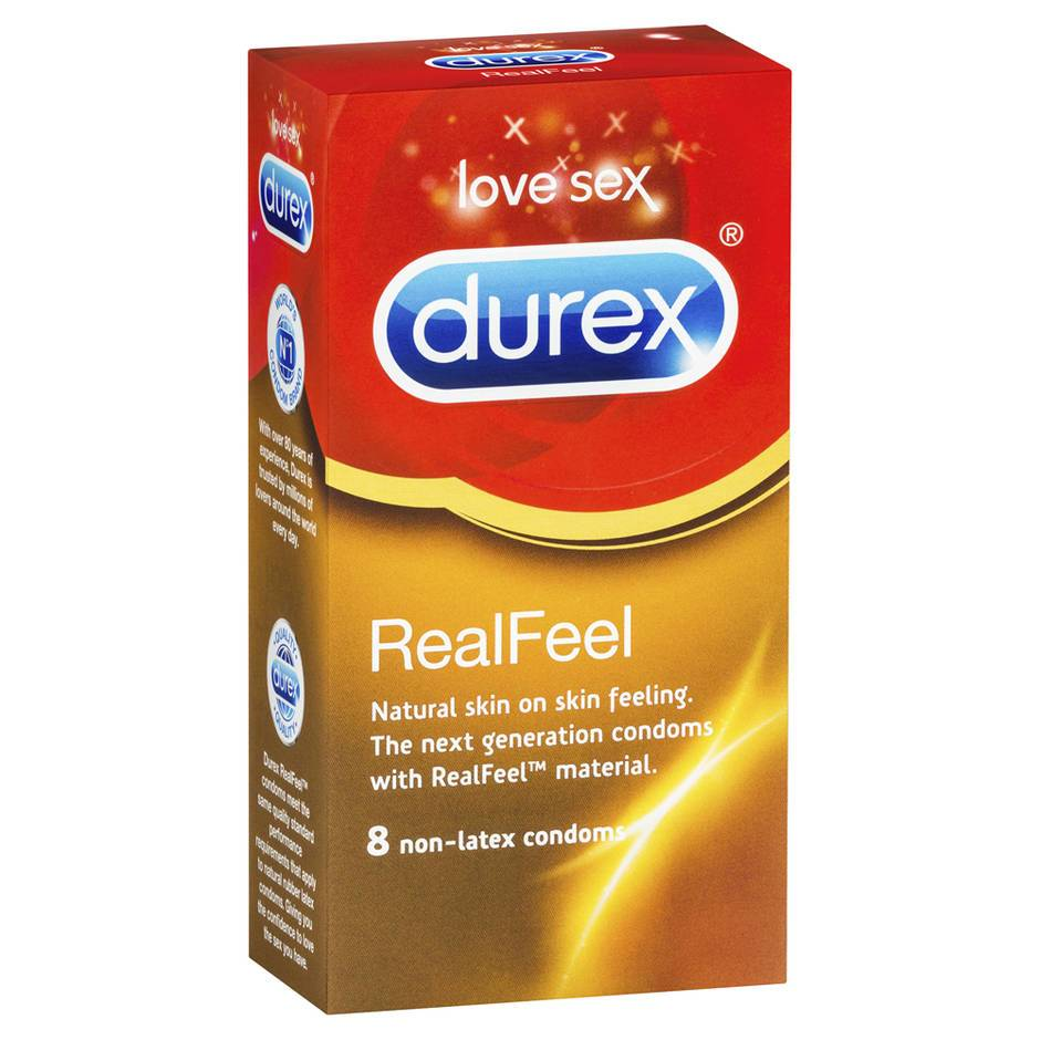 Durex Real Feel Non Latex Condoms (8 Pack)