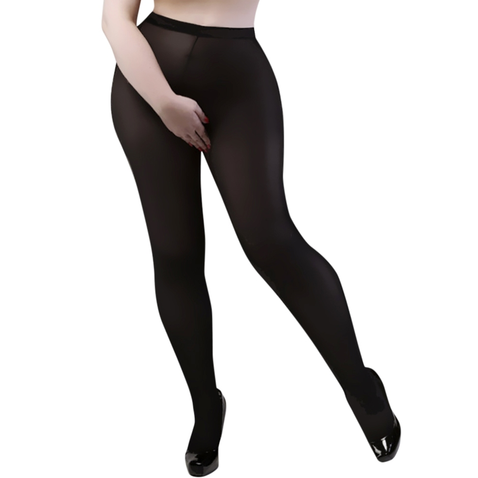 Miss Naughty Plus Size Crotchless 100 Denier Pantyhose