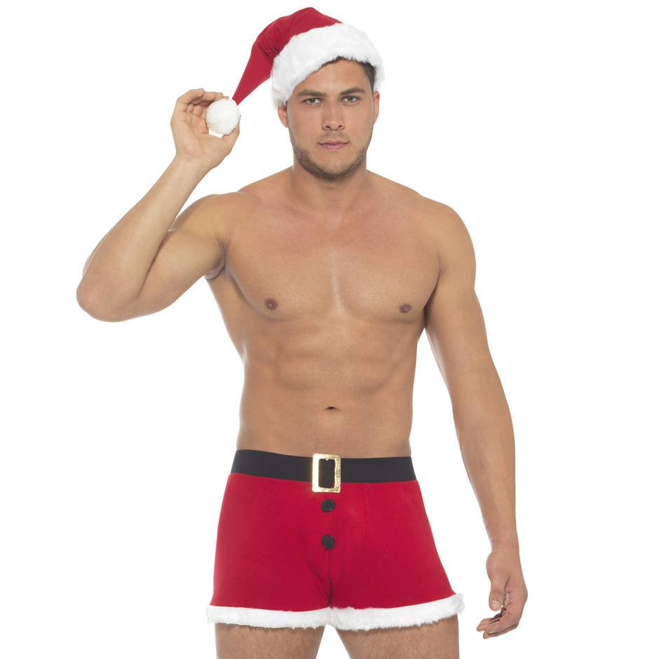 Men's Santa Trunks and Hat Set