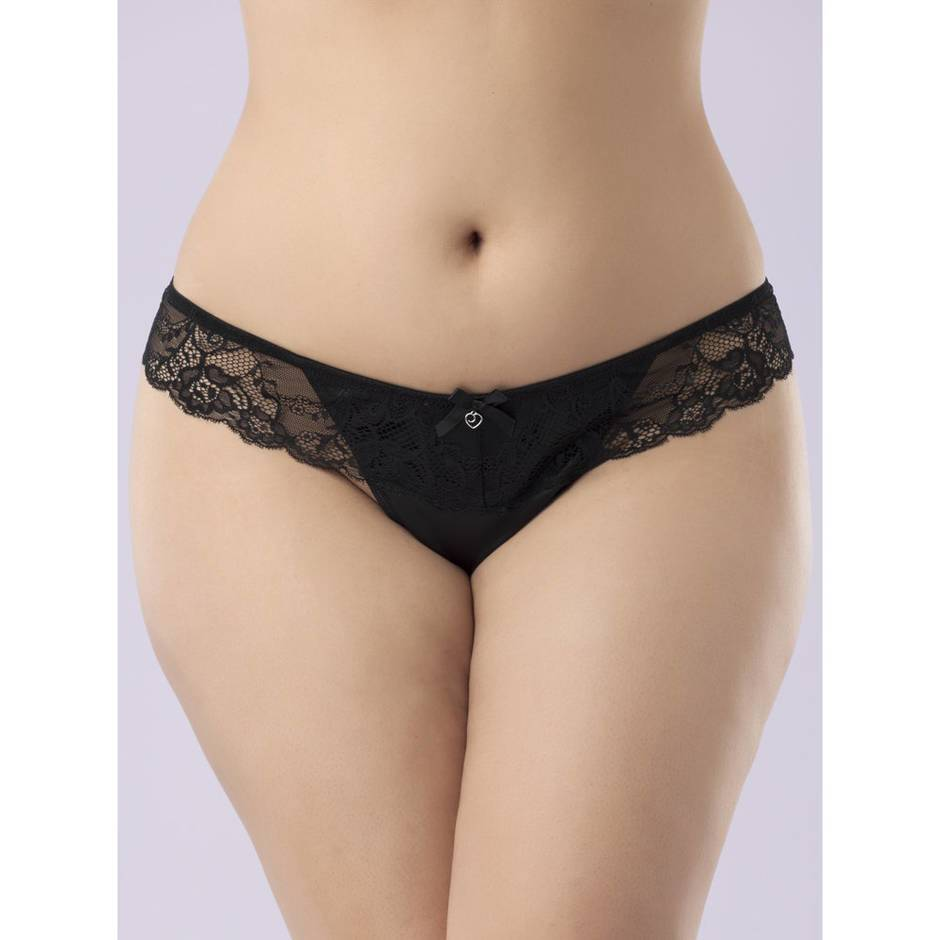 Lovehoney Plus Size schwarzer Ouvert-String