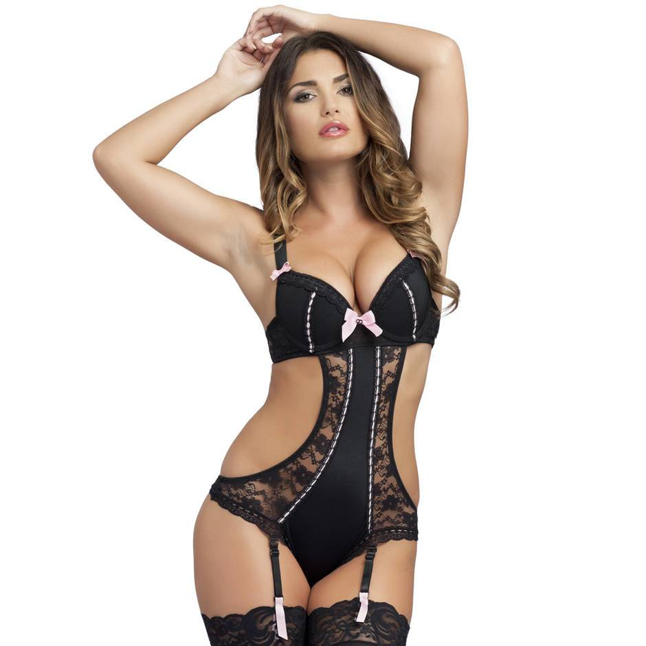 Lovehoney Seduce Me Push-Up Crotchless Cut-Out Teddy