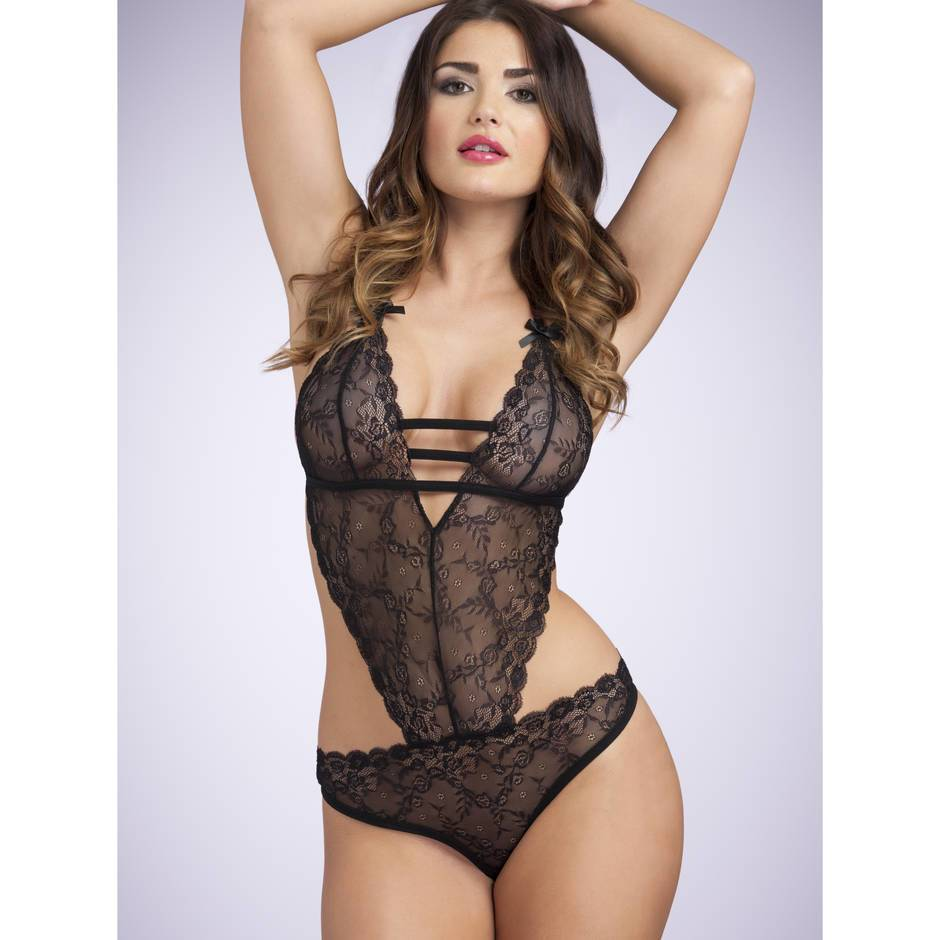 Lovehoney Crotchless Open-Back Lace Body
