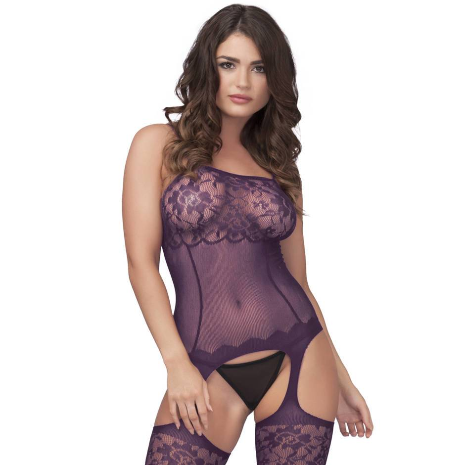 Sheer Garter Bodystocking