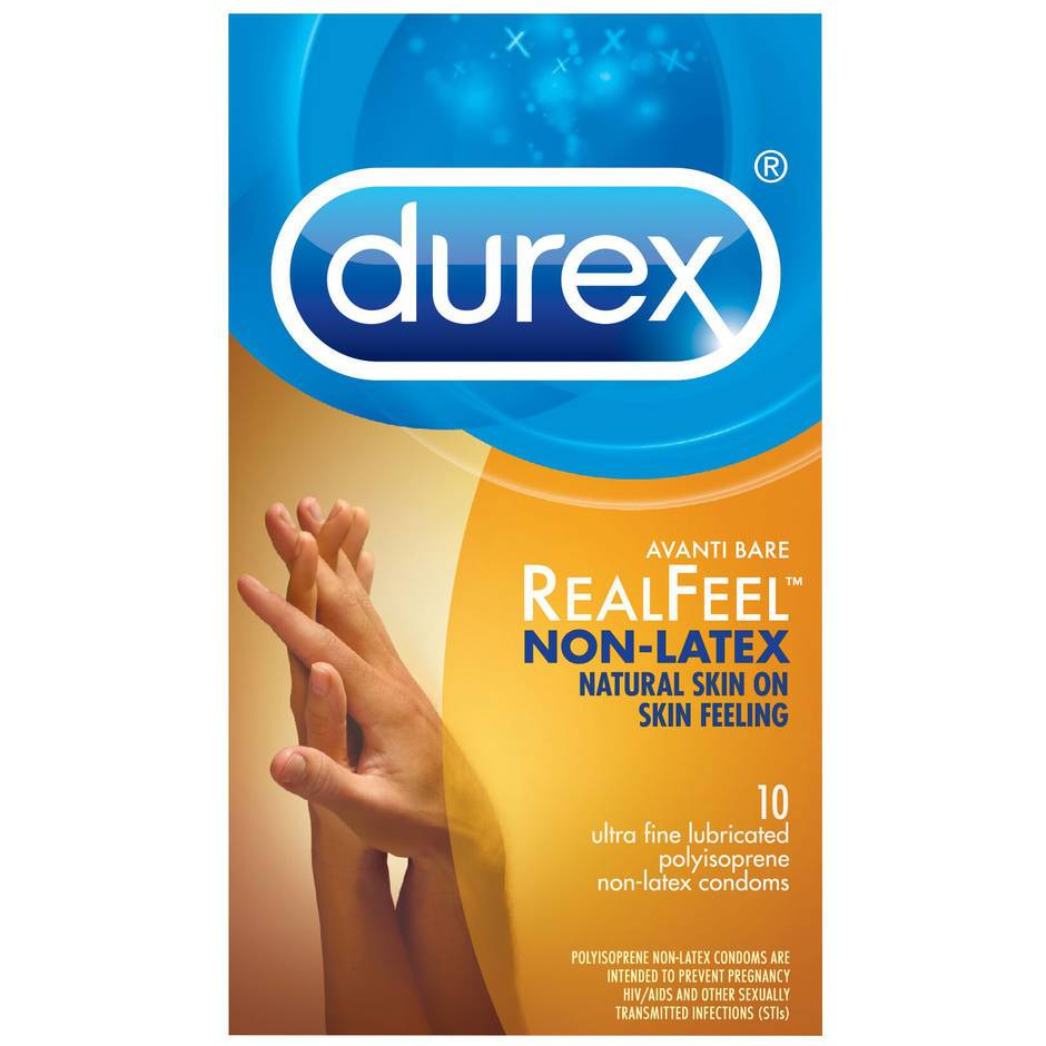 Durex Avanti Bare Real Feel Non Latex Condoms (10 Count)
