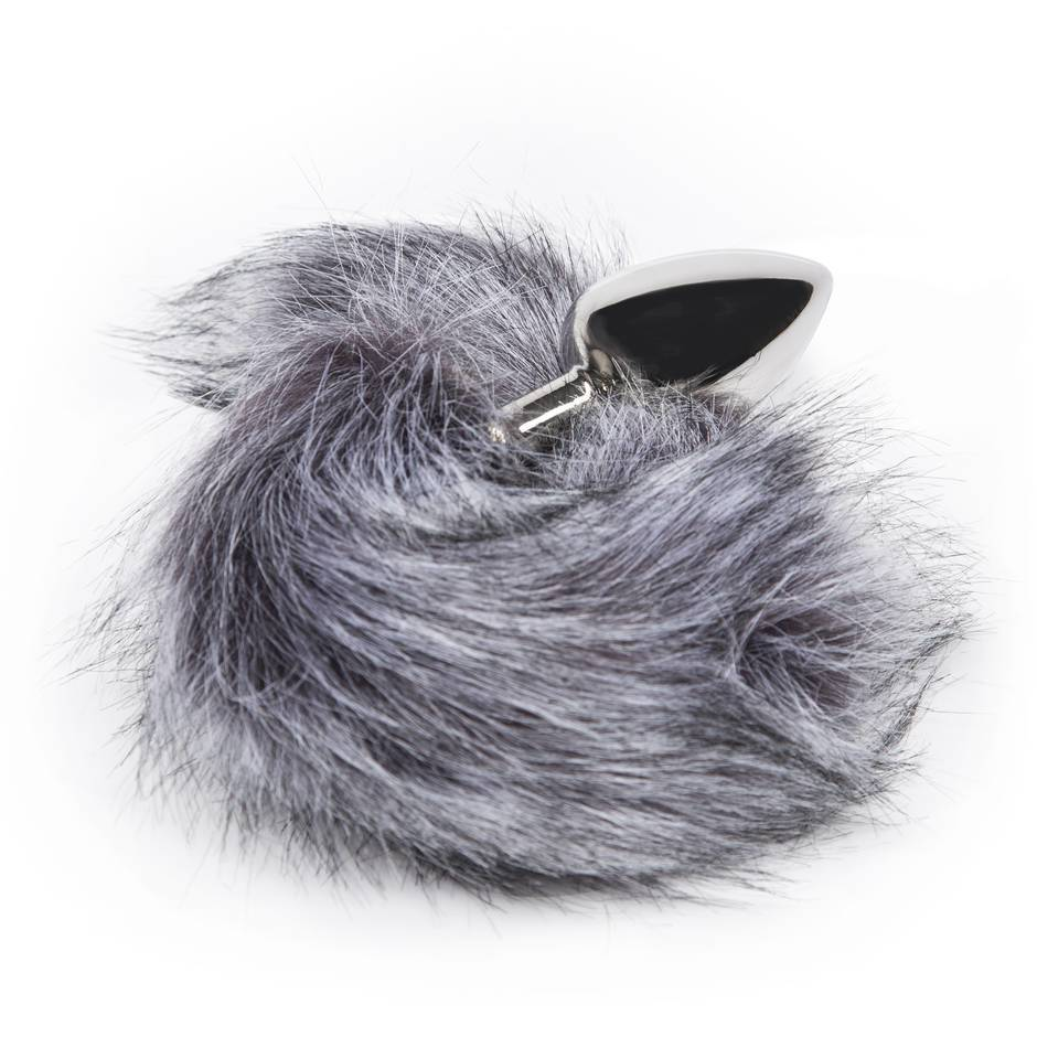 EasyToys Large Aluminium Faux Fur Tail Butt Plug