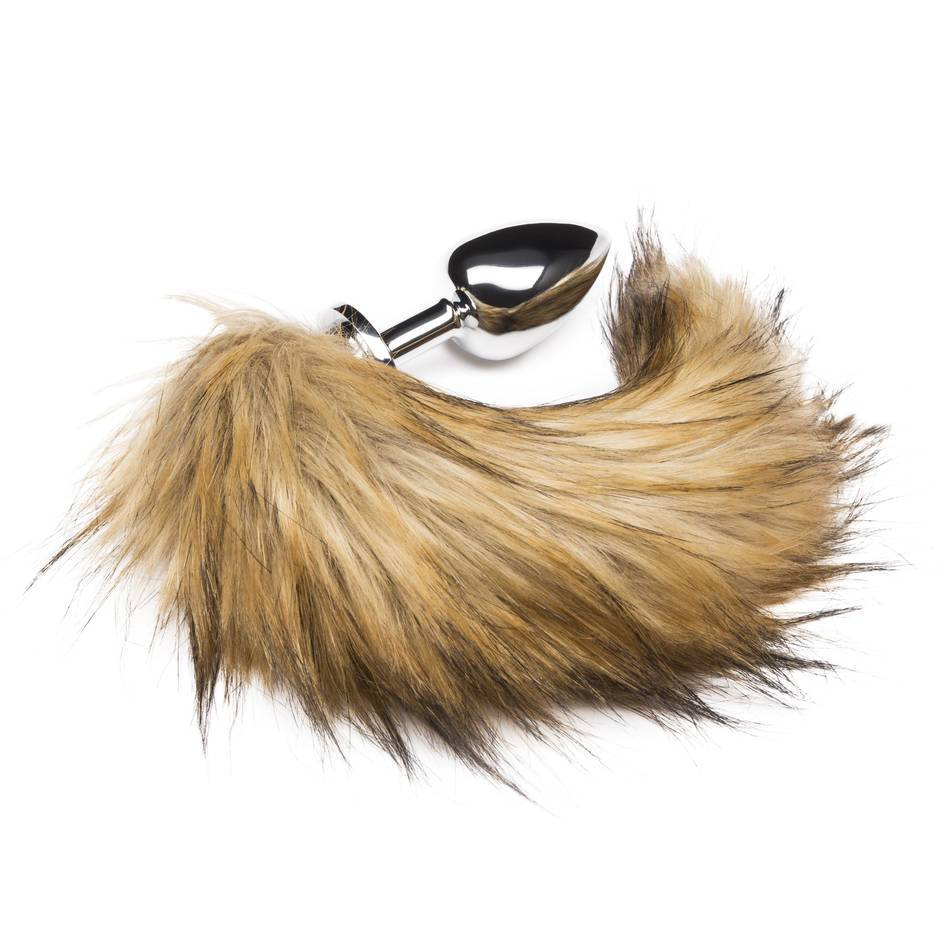 DOMINIX Deluxe Large Stainless Steel Faux Fox Tail Butt Plug